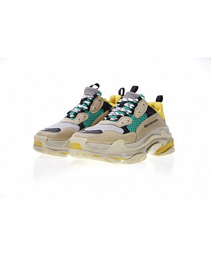 Balenciaga Triple-S Sneaker - Khaki Lemon Yellow