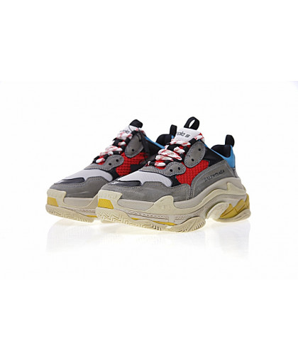 Balenciaga Triple-S Sneaker - Dark gray/Red/Blue