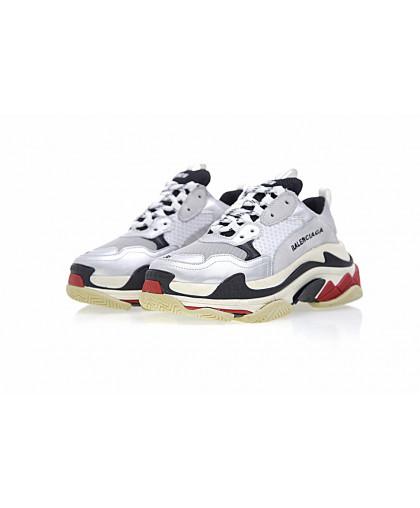 Balenciaga Triple-S Sneaker - White/Silver/Black