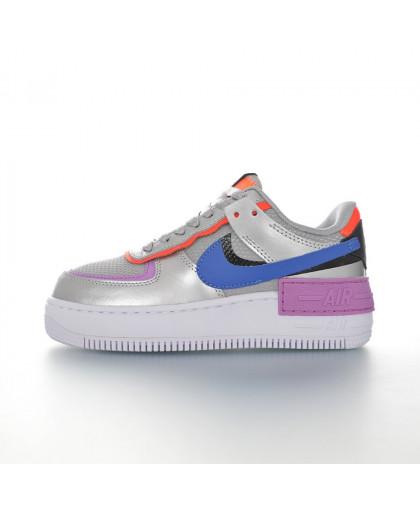 "Nike WMNS Air Force 1 Shadow""Silver/Orange/Black/Blue"