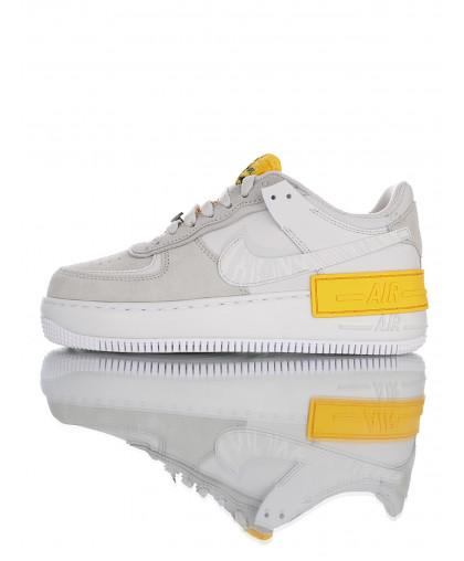 """Nike WMNS Air Force 1 Shadow""""Vast Grey/Orange"""