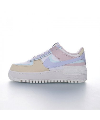 """Nike WMNS Air Force 1 Shadow""""White/Beige/Purple/Pink"""