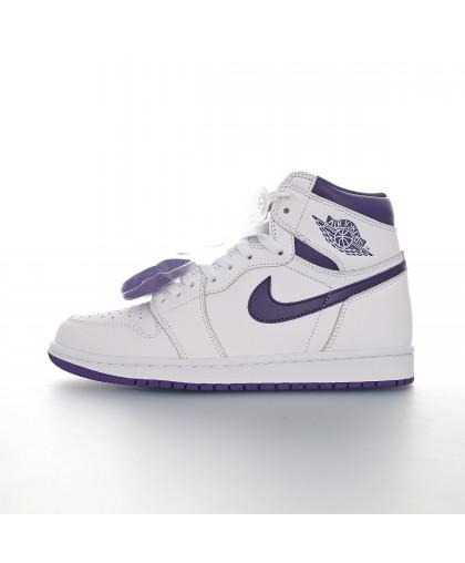 Nike Air Jordan 1 High - White/Purple