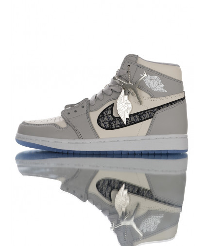 Nike Air Jordan 1 HIgh OG Dior Grey/White