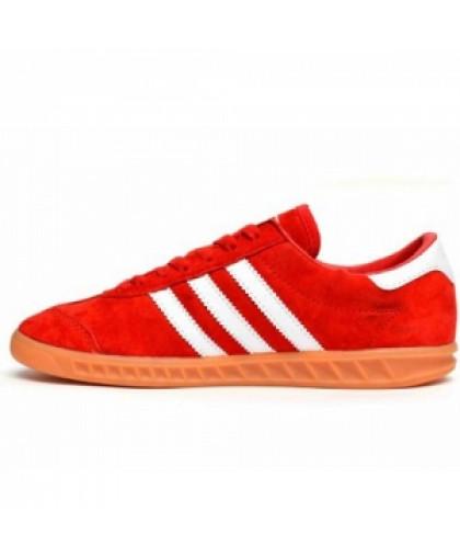 Унисекс Adidas Hamburg Suede Red/White