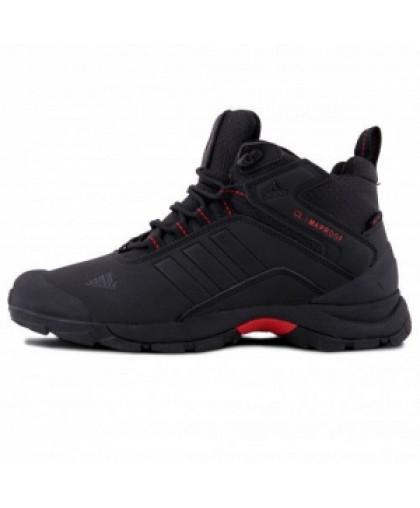 Зимние Adidas Terrex Climaproof High Black/Red With Fur