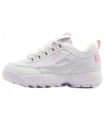 Зимние Fila Disruptor 2 White/Light Pink With Fur
