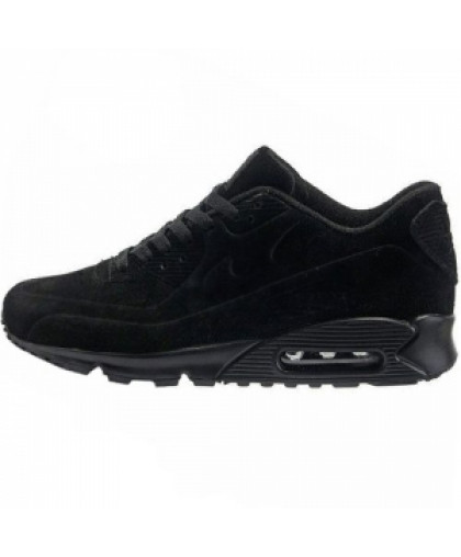 Зимние Nike Air Max 90 All Black With Fur
