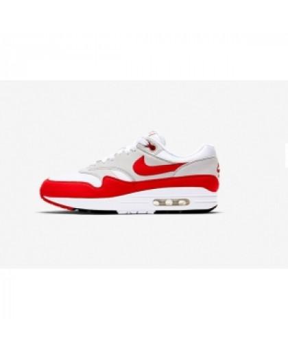Мужские Nike Air Max 1 (87)White/University Red/Pure Platinum