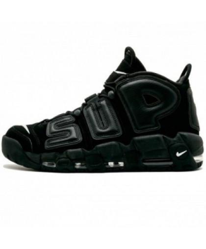 Мужские  Nike Air More Uptempo x Supreme Black
