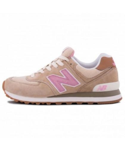 Женские New Balance 574 Grey/Light/Pink