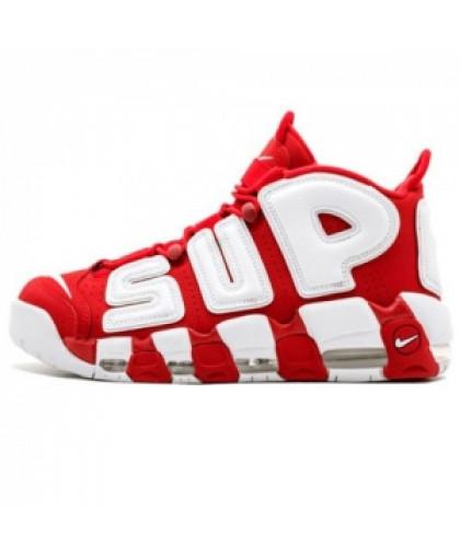 Унисекс Nike Air More Uptempo Supreme Red/White